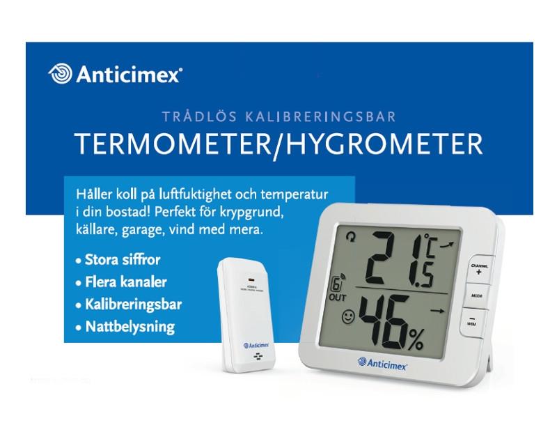 Digital fukt temperaturmätare